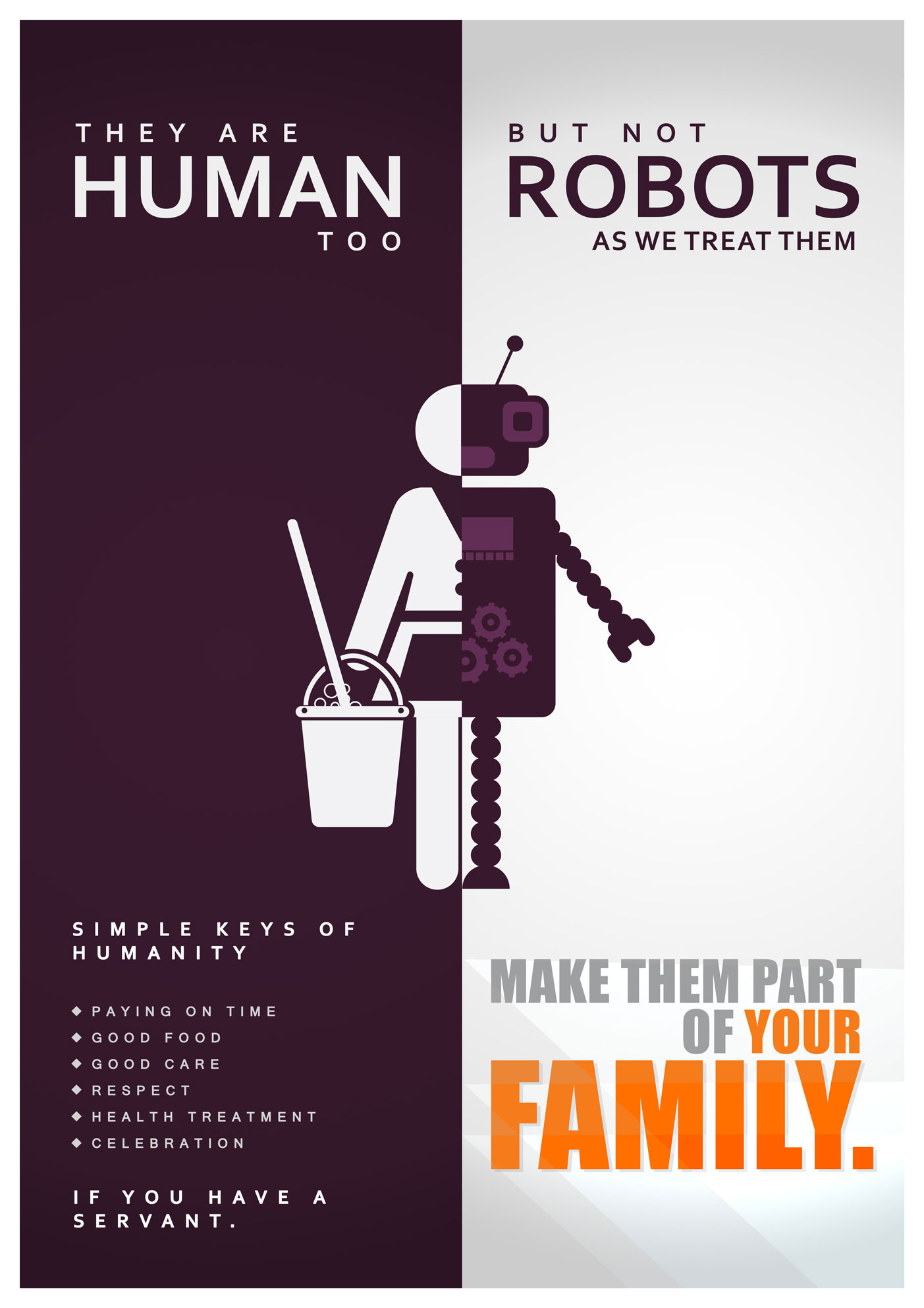 Human but not robot